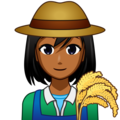 Woman Farmer: Medium-Dark Skin Tone on emojidex 1.0.34