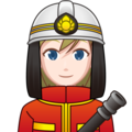 Woman Firefighter: Light Skin Tone on emojidex 1.0.34