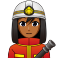 Woman Firefighter: Medium-Dark Skin Tone on emojidex 1.0.34
