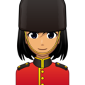 Woman Guard: Medium Skin Tone on emojidex 1.0.34