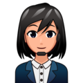 Woman Office Worker: Medium-Light Skin Tone on emojidex 1.0.34