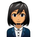 Woman Office Worker: Medium Skin Tone on emojidex 1.0.34