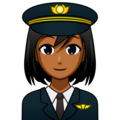 Woman Pilot: Medium-Dark Skin Tone on emojidex 1.0.34