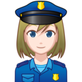 Woman Police Officer: Light Skin Tone on emojidex 1.0.34