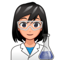 Woman Scientist: Medium-Light Skin Tone on emojidex 1.0.34