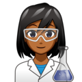 Woman Scientist: Medium-Dark Skin Tone on emojidex 1.0.34