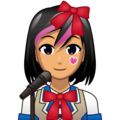 Woman Singer: Medium Skin Tone on emojidex 1.0.34