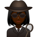 Woman Detective: Dark Skin Tone on emojidex 1.0.34