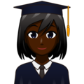 Woman Student: Dark Skin Tone on emojidex 1.0.34