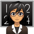 Woman Teacher: Medium Skin Tone on emojidex 1.0.34
