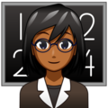 Woman Teacher: Medium-Dark Skin Tone on emojidex 1.0.34