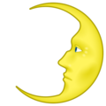 First Quarter Moon With Face on emojidex 1.0.34