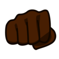 Oncoming Fist: Dark Skin Tone on emojidex 1.0.34