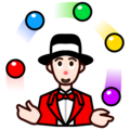 Person Juggling: Light Skin Tone on emojidex 1.0.34