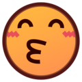 Kissing Face With Smiling Eyes on emojidex 1.0.34