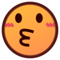 Kissing Face on emojidex 1.0.34