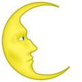 Last Quarter Moon With Face on emojidex 1.0.34