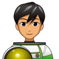 Man Astronaut: Medium Skin Tone on emojidex 1.0.34