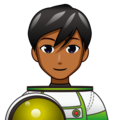 Man Astronaut: Medium-Dark Skin Tone on emojidex 1.0.34