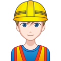 Man Construction Worker: Light Skin Tone on emojidex 1.0.34