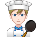 Man Cook: Light Skin Tone on emojidex 1.0.34