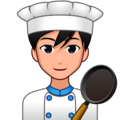 Man Cook: Medium-Light Skin Tone on emojidex 1.0.34