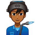 Man Factory Worker: Medium-Dark Skin Tone on emojidex 1.0.34