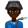 Man Factory Worker: Dark Skin Tone on emojidex 1.0.34