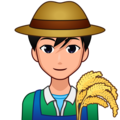 Man Farmer: Medium-Light Skin Tone on emojidex 1.0.34