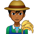 Man Farmer: Medium-Dark Skin Tone on emojidex 1.0.34