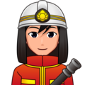 Man Firefighter: Medium-Light Skin Tone on emojidex 1.0.34
