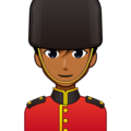 Man Guard: Medium-Dark Skin Tone on emojidex 1.0.34