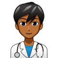 Man Health Worker: Medium-Dark Skin Tone on emojidex 1.0.34