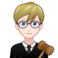 Man Judge: Light Skin Tone on emojidex 1.0.34