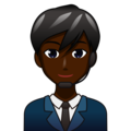 Man Office Worker: Dark Skin Tone on emojidex 1.0.34