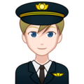Man Pilot: Light Skin Tone on emojidex 1.0.34