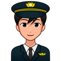 Man Pilot: Medium-Light Skin Tone on emojidex 1.0.34