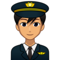 Man Pilot: Medium Skin Tone on emojidex 1.0.34