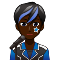Man Singer: Dark Skin Tone on emojidex 1.0.34
