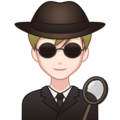 Man Detective: Light Skin Tone on emojidex 1.0.34