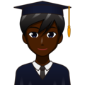 Man Student: Dark Skin Tone on emojidex 1.0.34