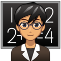 Man Teacher: Medium Skin Tone on emojidex 1.0.34