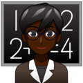 Man Teacher: Dark Skin Tone on emojidex 1.0.34