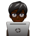 Man Technologist: Dark Skin Tone on emojidex 1.0.34