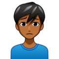 Man Frowning: Medium-Dark Skin Tone on emojidex 1.0.34