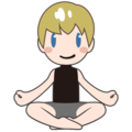 Man in Lotus Position: Light Skin Tone on emojidex 1.0.34