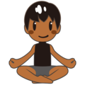Man in Lotus Position: Medium-Dark Skin Tone on emojidex 1.0.34