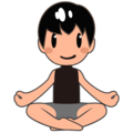 Man in Lotus Position: Medium-Light Skin Tone on emojidex 1.0.34
