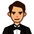 Man in Tuxedo: Medium Skin Tone on emojidex 1.0.34
