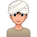Man Wearing Turban: Medium-Light Skin Tone on emojidex 1.0.34